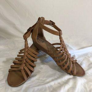 ANA zip back wedged sandal 9